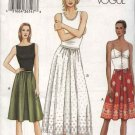 Vogue Sewing Pattern 7689 misses Size 12-14-16 Easy Dirndl Gathered Skirt A-line Half-Slip