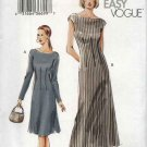 Vogue Sewing Pattern 7749 Misses Size 6-8-10 Easy Fitted A-line Dress Two lengths