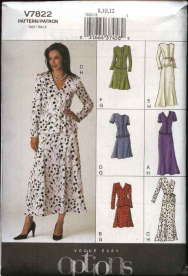 Vogue Sewing Pattern 7822 Misses Size 20-22-24 Easy Top Skirt Suit Two-Piece Dress