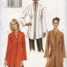 Vogue Sewing Pattern 7854 Misses Size 8-10-12 Easy Tunic Top Duster
