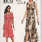 Vogue Sewing Pattern 7872 Misses Size 8-10-12 Easy Loose-Fitting Summer Dress