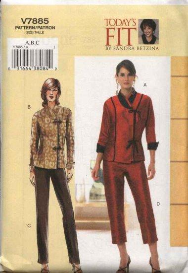 Vogue Sewing Pattern 7885 V7885 Misses Size 10-14 Top Pants Pantsuit Sandra Betzina