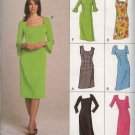 Vogue Sewing Pattern 7896 Misses Size 6-8-10 Easy Classic Straight Dresses Sleeve Options