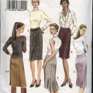 Vogue Sewing Pattern 7937 Misses size 6-8-10 Easy Basic Straight Skirts Back View variations