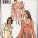 Vogue Sewing Pattern 7999 V7999 Misses Size 12-16 Easy Top Tunic Flutter Sleeves Fitted Bust
