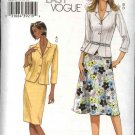 Vogue Sewing Pattern 8024 Misses Size 16-18-20-22  Easy Jacket Skirts Top Suit
