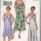 Vogue Sewing Pattern 8071 V8071 Misses Size 6-10 Easy Lined Sun Dress Capelet