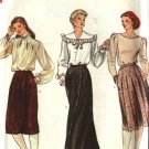 Retro Vogue Sewing Pattern 8085 Misses Size 8 Straight Front Wrap Pleated Skirts