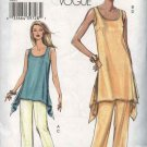 Vogue Sewing Pattern V8091 8091 Misses Size 8-14 Easy Pullover Top Tunic Pull-On Pants