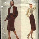 Vogue Sewing Pattern 2300 Misses Size 10 Skirt Blouse Jacket Suit Don Sayres