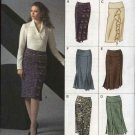 Vogue Sewing Pattern 8129 Misses Size 18-20-22 Easy Straight Yoke Skirt Options
