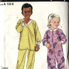 Simplicity Sewing Pattern 4732 Child's Boys Girls Size ½-6 Easy Pajamas Top Pants Sleepers