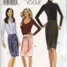 Vogue Sewing Pattern 8154 Misses Size 6-8-10-12 Easy Yoked Wrap Front Skirt