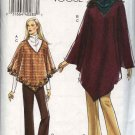 Vogue Sewing Pattern 8166 Misses Size 6-8-10 Easy Poncho Top Bootleg Pants