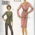 Vogue Sewing Pattern 8168 Misses Size 6-8-10-12 Easy Jacket Skirt Pants Suit Pantsuit