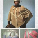 Vogue Sewing Pattern 8172 All Misses Sizes - Poncho Hat Mittens Bag Tote