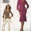 Vogue Woman Sewing Pattern 8207 Misses Size 8-10-12 Easy Jacket Skirt Pants Suit Pantsuit