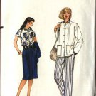Vogue Sewing Pattern 8272 Misses Size 8 Easy Wardrobe Jacket Blouse Skirt Pants