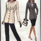 Vogue Sewing Pattern 8543 Misses Size 6-8-10 Easy Jacket Skirt Pants Suit Pantsuit Shawl Collar