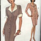 Vogue Sewing Pattern 8597 Misses Size 8-12 Easy Button Front Dress