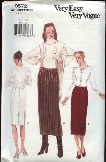 Vogue Sewing Pattern 9572 Misses Sizes 14-16-18 Easy Classic Straight Skirt