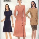 Vogue Sewing Pattern 9693 Misses Size 8-10-12 Easy Princess Seam Tunic Dress  Straight Skirt