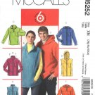 "McCall's Sewing Pattern 5252 Misses Mens chest Size 46-56"" Easy Fleece Vest Jacket Hoodie"