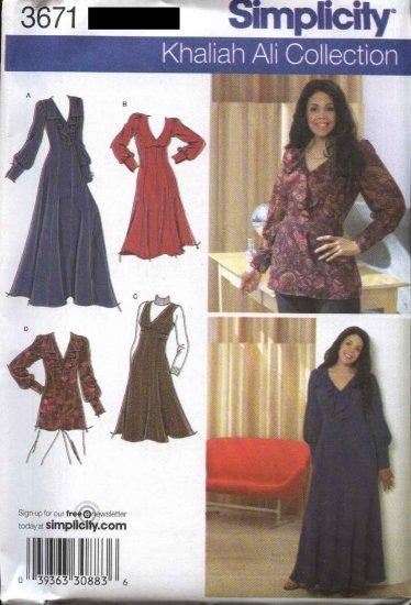 Simplicity Sewing Pattern 3671 Woman's  Plus Size 26W-32W Khaliah Ali  Dress Jumper Blouse