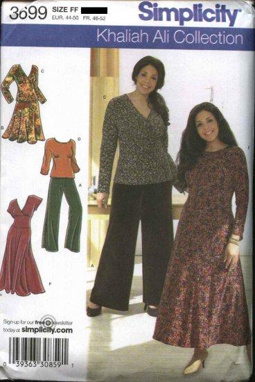Simplicity Sewing Pattern 3699 Women's Plus Size 18W-24W  Wardrobe Dress Top Skirt Pants