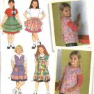 Simplicity Sewing Pattern 4286 Girls Childs Size 3-8 Cooking Crafts Full Half Aprons