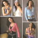 Simplicity Sewing Pattern 4306 Misses Size 6-8-10-12 Hip Wrap Tops Shrug Head Scarf Belt Bolero
