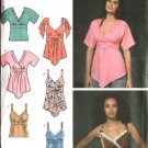 Simplicity Sewing Pattern 4317 Misses Size 6-8-10-12-14 Raised Waist Summer Tops