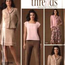 Simplicity Sewing Pattern 4368 Misses Size 6-14 Wardrobe Skirt Pants Top Jacket Threads Magazine