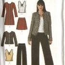 Simplicity Sewing Pattern 4369 Misses Size 8-16 Easy Wardrobe Skirt Pants Top Coat Jacket