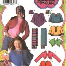 Simplicity Sewing Pattern 4386 Girls Size 2-6x Fleece Shrug Capelet Scarf Hat Lizzie McGuire