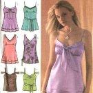 Simplicity Pattern 4417 Misses Size 10-12-14-16-18 Raised Waist Summer Tops