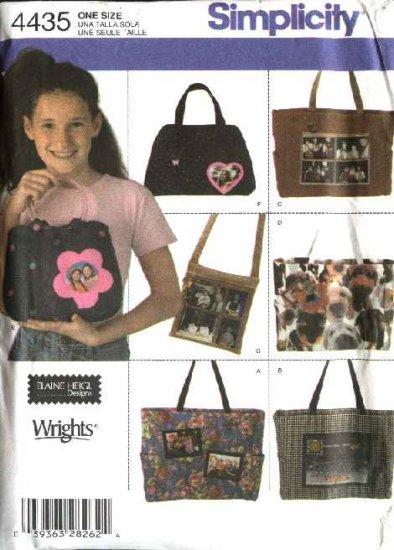 Simplicity Sewing Pattern 4435 Purse Totes Handbags  Bags