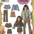 Simplicity Sewing Pattern 4517 Girls Size 3-4-5-6 Wardrobe Skirt Poncho Top Pants Capelet