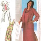 Simplicity Sewing Pattern 4558 Woman Plus Size 18W-24W Dress Top Jacket Cropped Pants Shirt