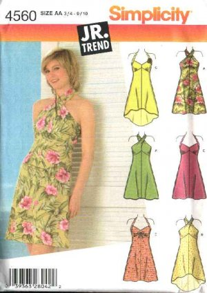 Simplicity Sewing Pattern 40 Junior Size 4040 4040 Halter Beauteous Sundress Patterns Simplicity