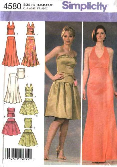 Simplicity Sewing Pattern 4580 Misses Size 6 8 10 12