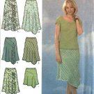 Simplicity Sewing Pattern 4593 Misses Size 6-8-10-12 Bias Seamed Skirts