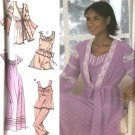 Simplicity Sewing Pattern 4792 Misses Size 6-16 Nightgown Pajamas Robe Gown Top Pants Shorts
