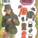 Simplicity Sewing Pattern 4818 Girls Size 7-16 Jacket Vest Scarf Hat Mittens Purse Lizzie McGuire