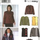 Simplicity Sewing Pattern 4826 Misses Size 6-16 Easy Jacket Vest Cardigan
