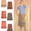 Simplicity Sewing Pattern 4882 Misses Size 6-8-10-12 Fitted Straight Skirts Pleated Ruffled Hemlines