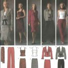 Simplicity Sewing Pattern 4885 Misses Size 14-22 Easy Wardrobe Jacket Top Skirt Pants Sash Suit