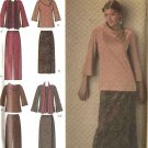 Simplicity Sewing Pattern 4886 Womans Plus Size 20W-28W Easy Mock Wrap Skirt Pants Top Scarf