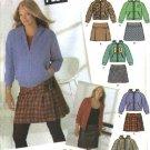 Simplicity Sewing Pattern 4893 Junior Plus size 13/14+-21/22+ Mini Skirt Kangeroo Jacket Hoodie