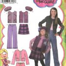 Simplicity Sewing Pattern 4895 Girls Size 3-6 Wardrobe Jacket Skirt Pants Vest Hat Lizzie McGuire